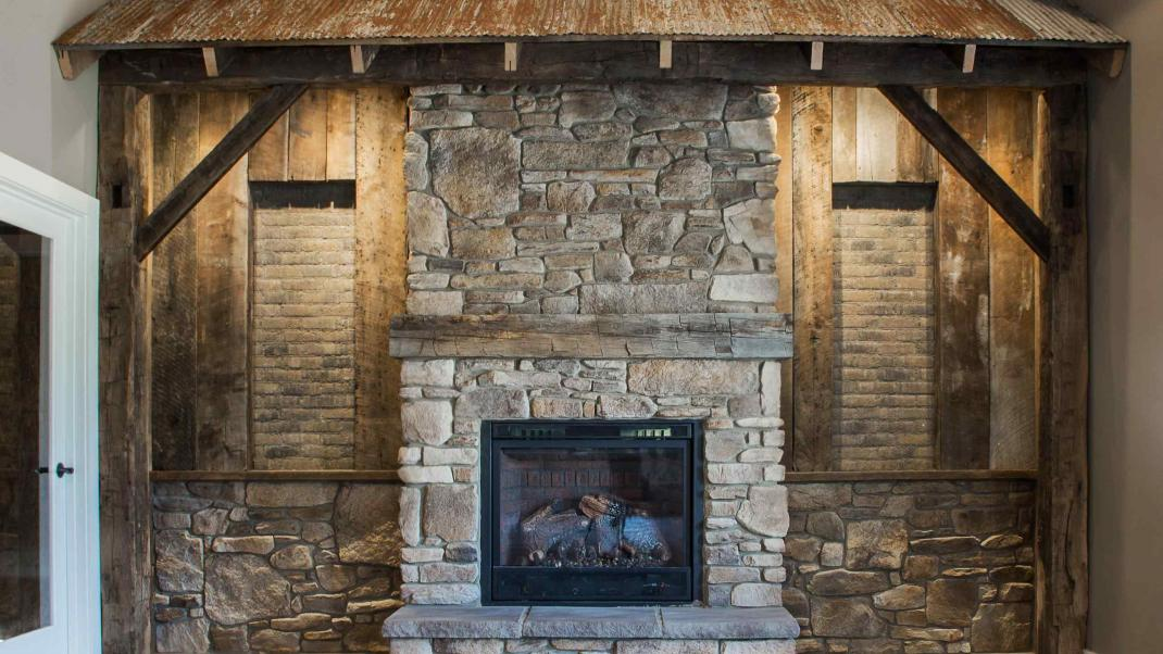 Interior fireplace design