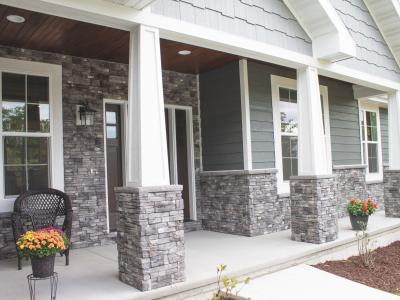 Manufactured stone on exterior home