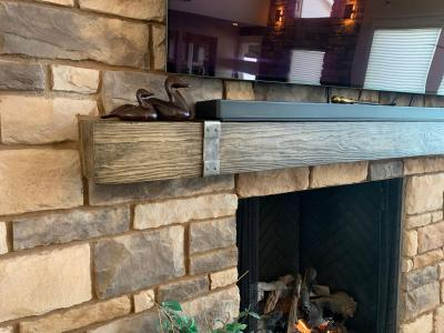 Mantel Install over Fireplace
