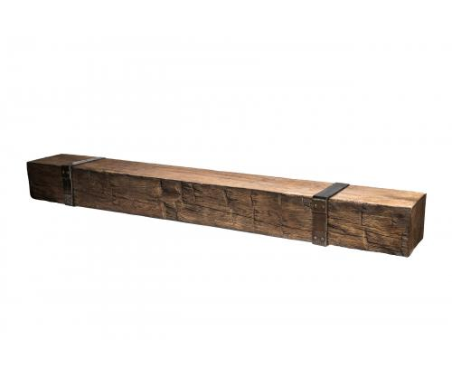 Brown Barn Beam Mantel Extension (Mantel Sold Separately)